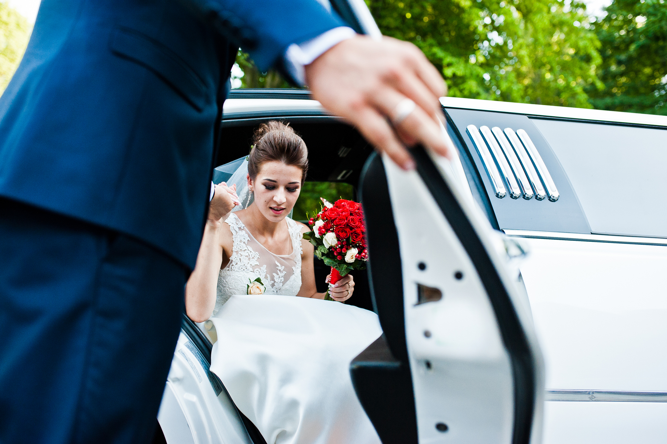 Leiebil til bryllupsbilen